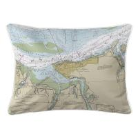 OR: Astoria, OR Nautical Chart Lumbar Pillow
