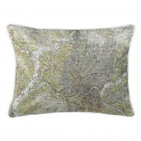 OH: Cincinnati, OH (1986) Topo Map Lumbar Pillow