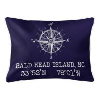 BHI, NC Compass Rose Lumbar Pillow - Navy