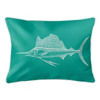 Sailfish Aqua Lumbar Pillow