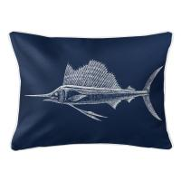 Sailfish Navy Lumbar Pillow