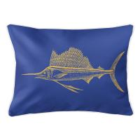 Sailfish Yellow & Blue Lumbar Pillow
