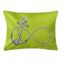 Infinity Anchor Lime Lumbar Pillow
