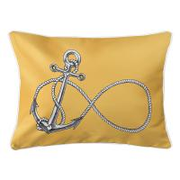 Infinity Anchor Yellow Lumbar Pillow