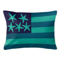 Beach Flag Lumbar Pillow - Pacific