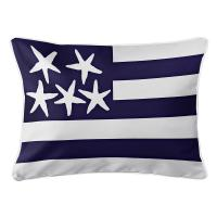Beach Flag Lumbar Pillow - Atlantic