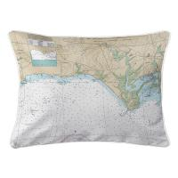 CT: Madison, CT Nautical Chart Lumbar Pillow