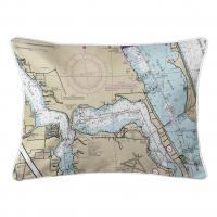 FL: Stuart, Sewall's Point, FL Nautical Chart Lumbar Pillow