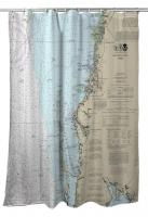 FL: New Port Richey, Tarpon Springs, Crystal Beach, FL Nautical Chart Shower Curtain