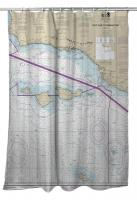 CA: Point Dume to Purisima Point, CA Nautical Chart Shower Curtain