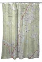 NH: Hanover, NH Topo Map Shower Curtain