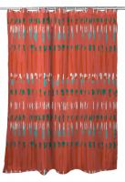 Tribal Coral Shower Curtain