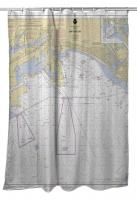 CA: San Pedro Bay, CA Nautical Chart Shower Curtain