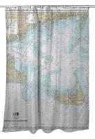 MA: Nantucket Sound and Approaches, MA Nautical Chart Shower Curtain