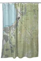 CA: South Lake Tahoe, CA (1992) Topo Map Shower Curtain