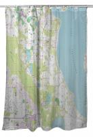 FL: Lake Tohopekaliga, FL (1987) Topo Map Shower Curtain