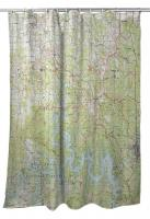 MO: Table Rock Lake, MO (1985) Topo Map Shower Curtain