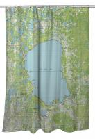 MN: Mille Lacs Lake, MN (1985) Topo Map Shower Curtain
