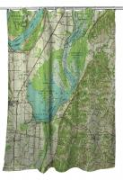 TN: Reelfoot Lake, TN (1956) Topo Map Shower Curtain