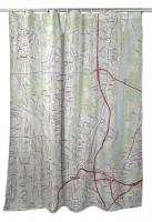 CT: Hartford North, CT Topo Map Shower Curtain