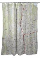 MA: Worcester North, MA Topo Map Shower Curtain