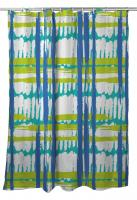 Coastal Grid Shower Curtain