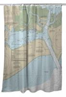 NJ: Cape May Harbor, NJ Nautical Chart Shower Curtain