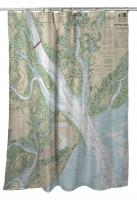 SC: Port Royal Sound, SC Nautical Chart Shower Curtain