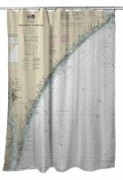 NC: New River Inlet to Cape Fear, NC Nautical Chart Shower Curtain