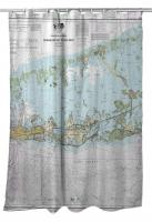 FL: Sugarloaf to Key West, FL Nautical Chart Shower Curtain