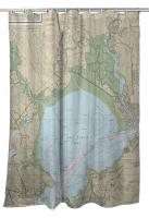 CA: San Pablo Bay, CA Nautical Chart Shower Curtain
