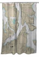 WA: Bremerton, Bainbridge Island, WA Nautical Chart Shower Curtain