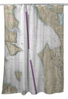 WA: Seattle, Elliott Bay, WA Nautical Chart Shower Curtain