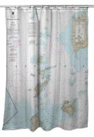 OH: Pelee Island, ON; Bass Islands, Kelleys Island, OH Nautical Chart Shower Curtain