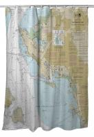 CA: San Francisco Bay, Richmond, CA Nautical Chart Shower Curtain