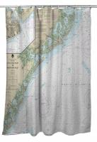 NJ: Little Egg Inlet to Hereford Inlet, NJ Nautical Chart Shower Curtain