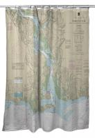 CT: Connecticut River, CT Nautical Chart Shower Curtain
