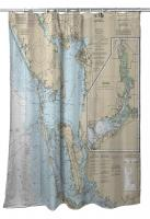 FL: Charlotte Harbor to Pine Island Sound, FL Nautical Chart Shower Curtain