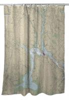 NH: Dover to Portsmouth, NH Nautical Chart Shower Curtain