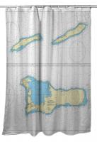 The Cayman Islands, West Indies Nautical Chart Shower Curtain