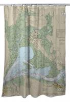 CA: Suisun Bay, CA Nautical Chart Shower Curtain