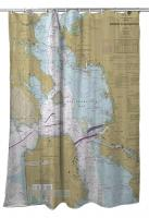 CA: Entrance to San Francisco Bay, CA Shower Curtain