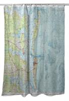 FL: Amelia Island, FL (1981) Topo Map Shower Curtain