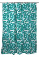 Tribal Lagoon Turquoise Shower Curtain