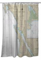 CA: Bodega and Tomales Bays, CA Nautical Chart Shower Curtain