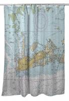 FL: Key West, FL Nautical Chart Shower Curtain