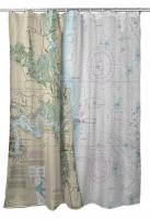 FL: Amelia Island, FL Nautical Chart Shower Curtain