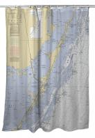FL: Key Largo, FL Nautical Chart Shower Curtain