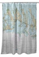 FL: Sugarloaf, Cudjoe & Summerland Keys, FL Nautical Chart Shower Curtain