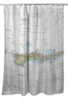 FL: Vaca Key Marathon, FL Nautical Chart Shower Curtain